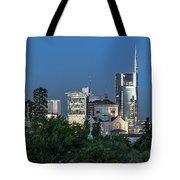Milan Skyline By Night, Italy Tote Bag