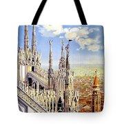 Milan Travel Print Tote Bag