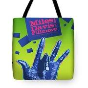 Miles At The Fillmore Tote Bag