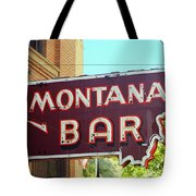 Miles City, Montana - Bar Neon Tote Bag