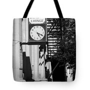 Miles City, Montana - Downtown Clock Bw Tote Bag