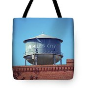 Miles City, Montana - Water Tower Tote Bag