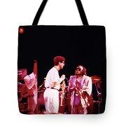 Miles Davis Image 9  With Bob Berg  Tote Bag