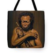 Miles Davis Painting Tote Bag