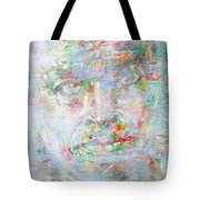 Miles Davis - Watercolor Portrait.4 Tote Bag