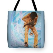 Miles Davis  In A Yellow Suit Tote Bag