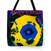 Miley Cyrus At Five With An Attitude Print Tote Bag