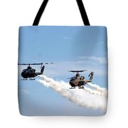 Military Helicopters Tote Bag