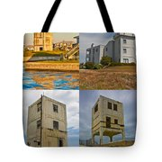 Military Observation Towers Operation Bumblebee Tote Bag