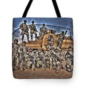 Military Police Pose For This Hdr Image Tote Bag