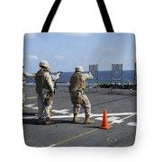 Military Policemen Train Tote Bag by Stocktrek Images