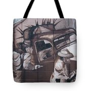 Military Truck Street Art Tote Bag