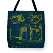 Military Vehicle Body Patent Drawing 1a Tote Bag