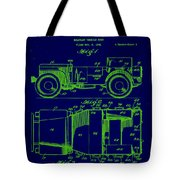 Military Vehicle Body Patent Drawing 1e Tote Bag