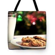 Milk And Cookies For Santa Tote Bag by Elena Elisseeva
