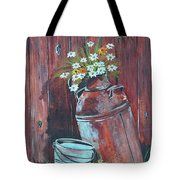 Milk Can Of Daisy's Tote Bag
