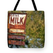 Milk Sign Tote Bag