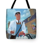 Milkman On Daily Milk Delivery In Urban Old Street Tote Bag