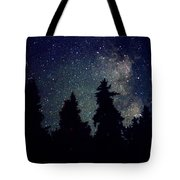 Milky Way Above Northern Forest 22 Tote Bag
