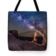 Milky Way And Delicate Arch Tote Bag