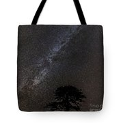 Milky Way And Tree Tote Bag