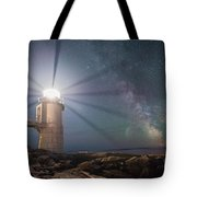 Milky Way Beacon Of Light Tote Bag