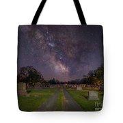 Milky Way Cemetery Tote Bag