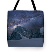 Milky Way On Italian Dolomites Tote Bag