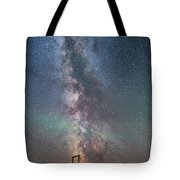 Milky Way Over An Old Ranch Corral Tote Bag