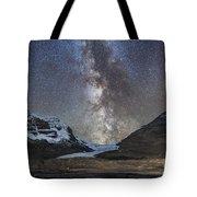 Milky Way Over Athabasca Glacier Tote Bag