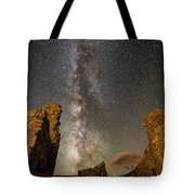 Milky Way Over Crest House Tote Bag