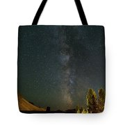 Milky Way Over Farmland In Central Oregon Tote Bag