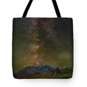 Milky Way Over Mount St Helens Tote Bag