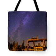 Milky Way Over Old Corral Tote Bag