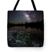 Milky Way Over Pass Lake Tote Bag