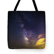 Milky Way Over The Boardwalk Tote Bag