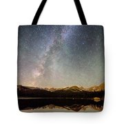 Milky Way Over The Colorado Indian Peaks Tote Bag