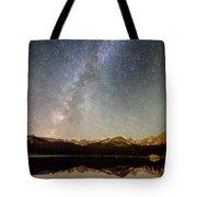 Milky Way Over The Colorado Indian Peaks Tote Bag
