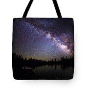 Milky Way Over The Lake Tote Bag