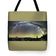 Milky Way Over Yosemite Valley Tote Bag