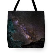 Milkyway At The Mountains Tote Bag