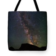 Milkyway Over Chief Mt Tote Bag