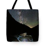 Milkyway Over Haystack Tote Bag