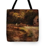 Mill - The Village Edge Tote Bag by Mike Savad