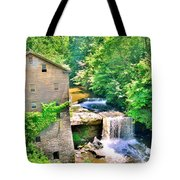 Mill Creek Park Lanterman's Mill And Covered Bridge Tote Bag