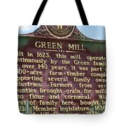 Mill Description Tote Bag