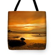 Mill Way Beach Sunset Tote Bag