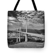 Millau Bridge France Tote Bag