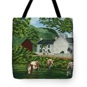 Milldale In Staffordshire Tote Bag