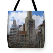 Millenium Park And Bench 2 Tote Bag